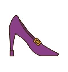 Female heel shoe icon vector image