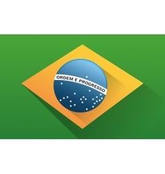 Flag of brazil design vector