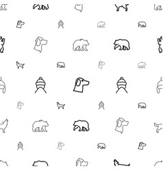 Fur icons pattern seamless white background vector