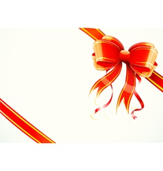 gift bow and ribbon vector image vector image