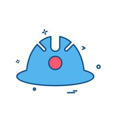 halmet icon design vector image