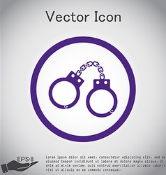 Handcuffs symbol of justice police icon vector