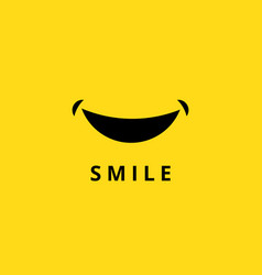 happy smile doodle funny smiling mouth isolated vector image