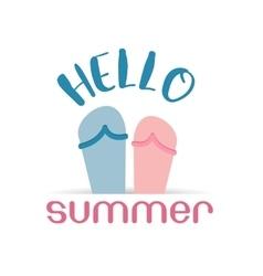Hello summer beach sneaker web icon vector image