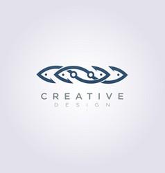 Hook fish design clipart symbol logo template vector