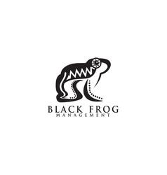 Inca frog icon logo design template vector