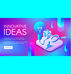 Innovative ideas lamp vector