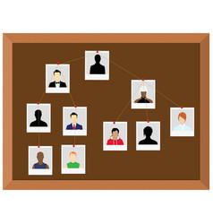 Investigation board crime investigation concept vector