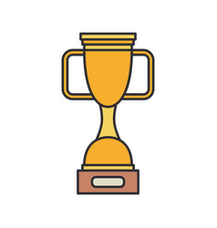 line color bowl winner cup award icon vector image