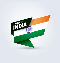 made in india flag vector image