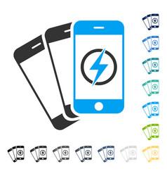 Mobile phones energy icon vector