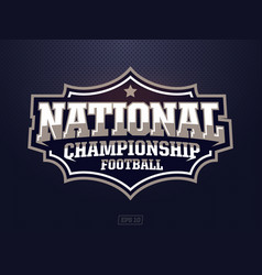Modern professional american football logo vector