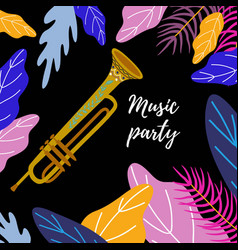 musical background classical trombone bright vector image