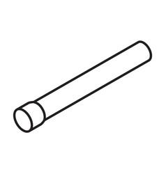 pipe isometric iconline icon vector image