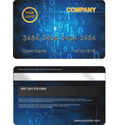 Plastic Card with abstract digital background vector image