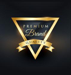 Premium brand quality label and badge design vector