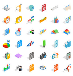 printing icons set isometric style vector image