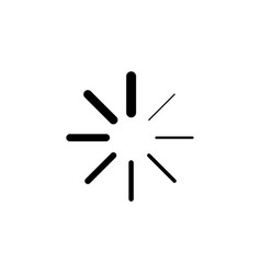 progress loading icon signs and symbols can be vector image