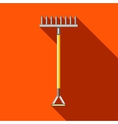 Rake icon in flat style vector image