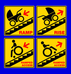 Ramped access public information sign isolated vector