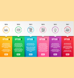 Report document trade infochart and feather icons vector