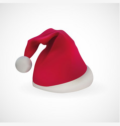 santa claus hat with white color background vector image