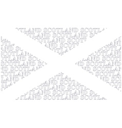Scotland text flag vector