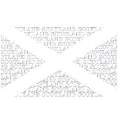 Scotland Text Flag vector