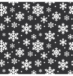 Seamless pattern of winter snowflakes vector