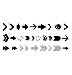 set black arrows vector image