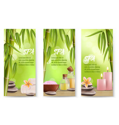 spa salon services banner template set vector image