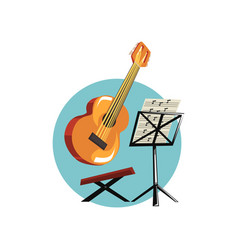 Symbols of the musician profession acoustic vector