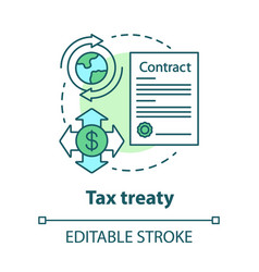 Tax treaty concept icon international agreement vector