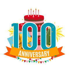 template 100 years anniversary congratulations vector image