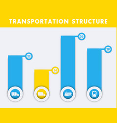 transportation structure infographics elements vector image