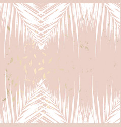 trendy autumn foliage mint colored gold blush vector image