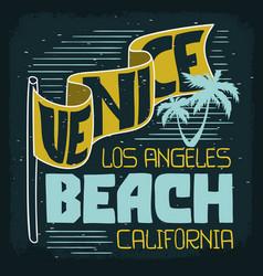 Venice beach los angeles california vintage vector