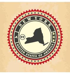 Vintage label-sticker cards new york vector