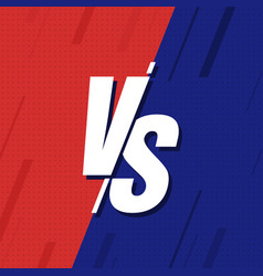 vs versus blue and red comic design vector image