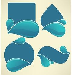 Water stickers vector