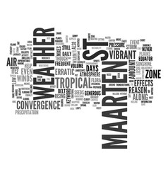 Weather in st maarten text word cloud concept vector