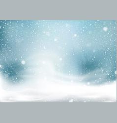 Winter snow storm background vector