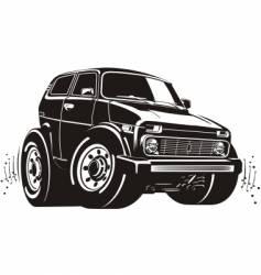 cartoon off-road vehicle vector image vector image