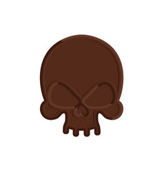 chocolate skull sweet skeleton head scary vector image vector image