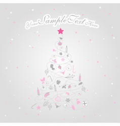 Christmas tree with stars vector image vector image