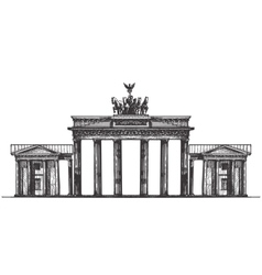 Germany logo design template monument or vector image