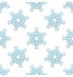 Seamless background with blue snowflakes vector image