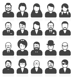 Simple people avatars and userpics vector image