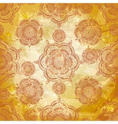 spring retro seamless floral vector image vector image