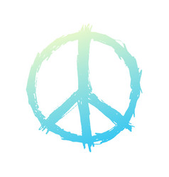 t-shirt design with peace sign on white vector image vector image